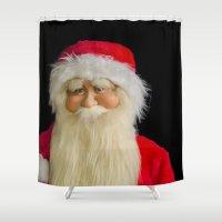 santa Shower Curtains featuring Santa by PICSL8