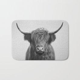 Highland Cow - Black & White Bath Mat