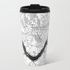 Seoul Map Gray Travel Mug