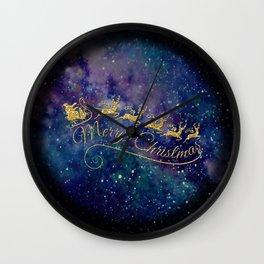 Santa Claus on Milky Way Wall Clock