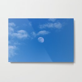 Moon and Clouds Metal Print