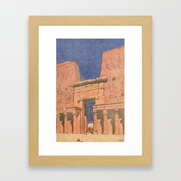 Guerin, Jules (1866-1946) - Egypt and its Monuments 1908, The Court at the Temple of Edfu Framed Art Print