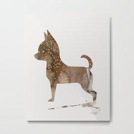 Watercolor Chihuahua No. 2 by Kathy Morton Stanion Metal Print
