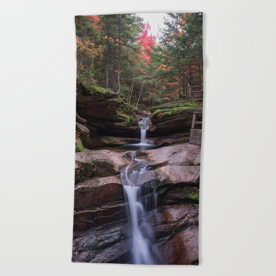Sabbaday Falls October 2016 Beach Towel