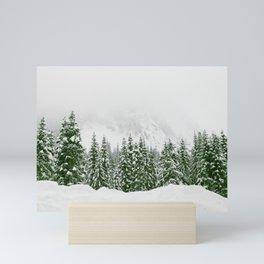 Snow Trees Forest / Nature Wilderness Mini Art Print