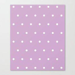 Polka Dots Lavender Lilac Purple Canvas Print