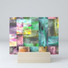 Geometric Clouds and Sky Mini Art Print