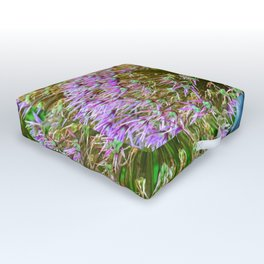 Purple Flower Close Up of Alliums Welcome to Boston Common Outdoor Floor Cushion