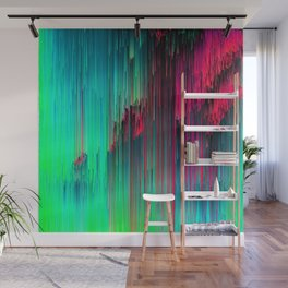Just Chillin' - Abstract Neon Glitch Pixel Art Wall Mural