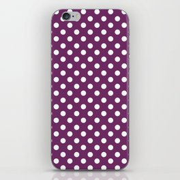 Byzantium Purple and White Polka Dot Pattern iPhone Skin