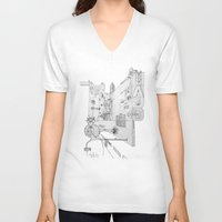 cross V-neck T-shirts featuring Cross by ℳajd