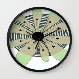 FLOWERY  CAMILLE / ORIGINAL DANISH DESIGN bykazandholly Wall Clock