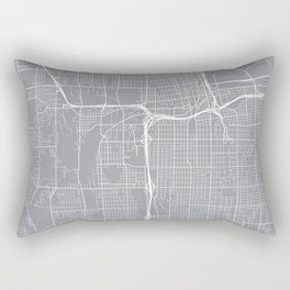 Tacoma Map, Washington USA - Pewter Rectangular Pillow