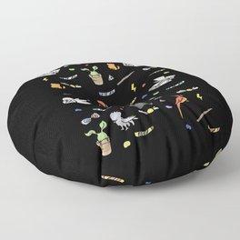 hp pattern magic doodles black Floor Pillow