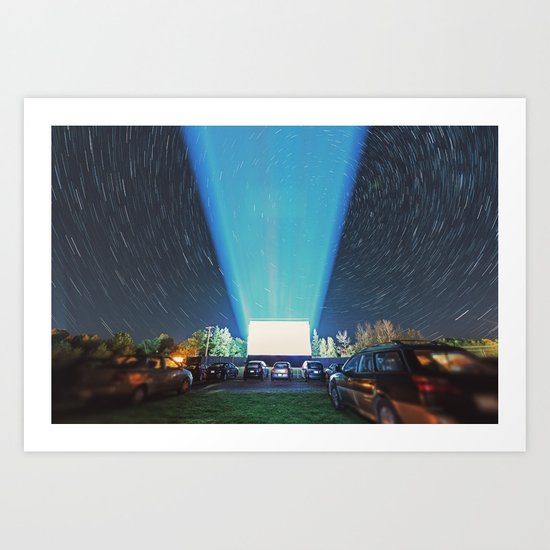 At the Drive In Art Print