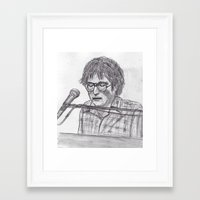 randy c Framed Art Prints featuring Randy Newman by jamestomgray