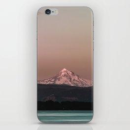 Pastel Peak - Mt. Hood over the Columbia iPhone Skin