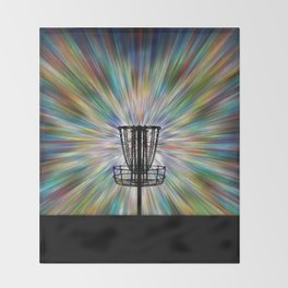 Disc Golf Basket Silhouette Throw Blanket