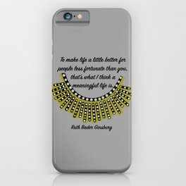 Meaningful Life: Dissent iPhone Case