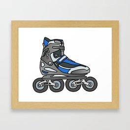 Inline skates Framed Art Print