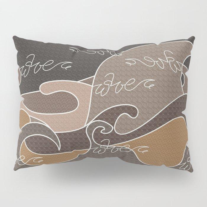 Waves V earth colors V Duffle Bags Pillow Sham
