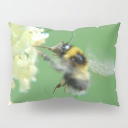 Busy Little Bee - Garden Photography by Fluid Nature Pillow Sham