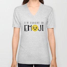 I'm Fluent In Emoji Unisex V-Neck