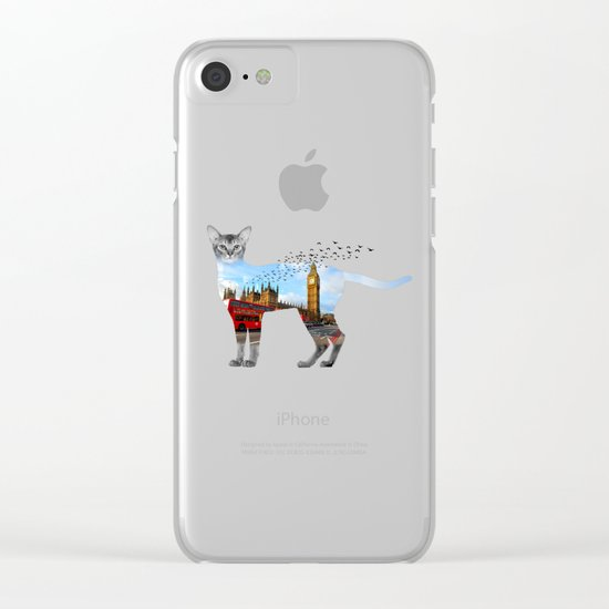 London cat Clear iPhone Case