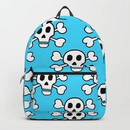 Skulls in Blue Backpack