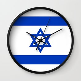 Israel Flag - High Quality image Wall Clock