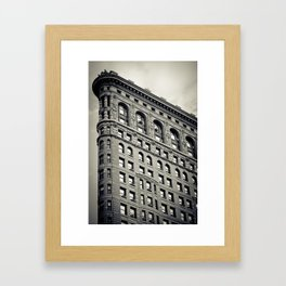 New York: Flatiron B&W Framed Art Print