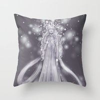 valar morghulis Throw Pillows featuring Varda, valar of light by ScottyTheCat
