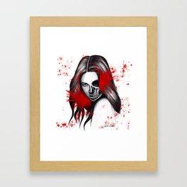 The half-demon half-angel woman V2 Framed Art Print