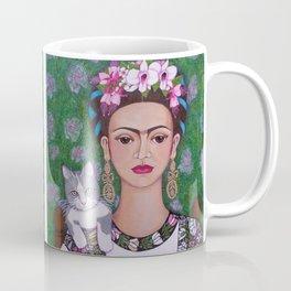 Frida cat lover closer Coffee Mug