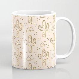 Gold Desert Cacti Coffee Mug