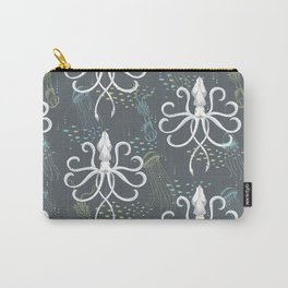 Ghostly Squid Damask Carry-All Pouch