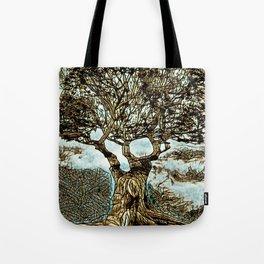 Brown Tree at Peace Tote Bag