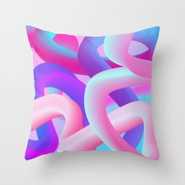 digital dream Throw Pillow