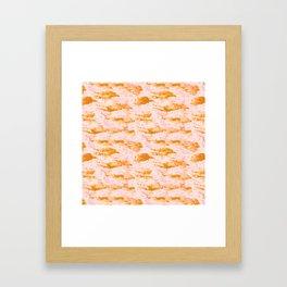 Grace Sandstone Pattern Framed Art Print