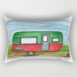 Watermelon Camper Trailer Rectangular Pillow