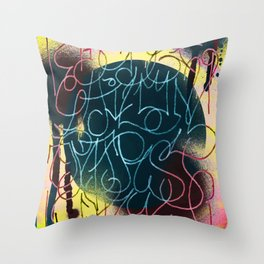 GraffitiAlphabet Throw Pillow