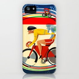 Track Cycling Championship Poster Cycle Bike iPhone Case