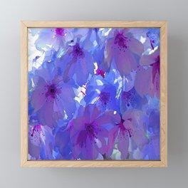 Blue Cherry Blossoms Framed Mini Art Print