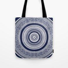 Denim Mandala Tote Bag