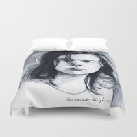 coconutwishes Duvet Covers featuring Harry Watercolors B/N by Coconut Wishes