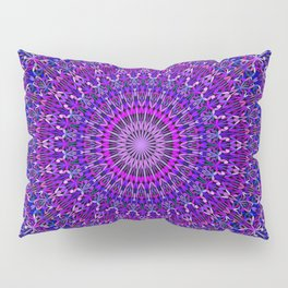 Lace Mandala in Purple and Blue Pillow Sham