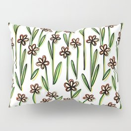 Five Leaves Flowers - Creative Floral Pattern Pillow Sham