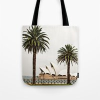 sydney Tote Bags featuring Sydney by janisratnieks
