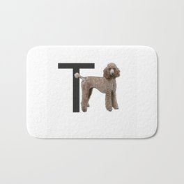 T is for Toy Poodle Bath Mat