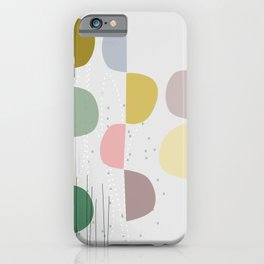 Mid century temporary art VIII iPhone Case